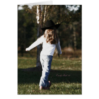 Little Cowgirl Card