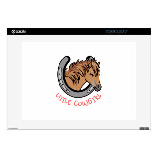 """Little Cowgirl Decal For 15"""" Laptop"""