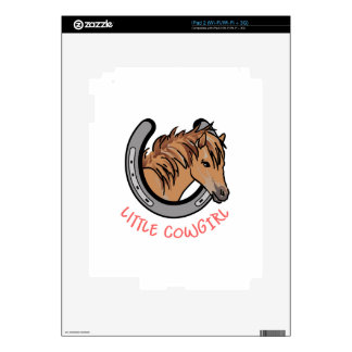 Little Cowgirl Decal For iPad 2