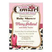 Little Cowgirl Modern Girl Baby Shower Invitation