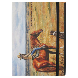 Little Cowgirl on Cattle Horse iPad Pro Case