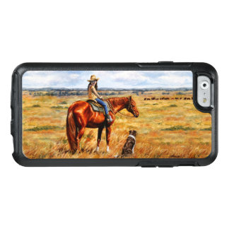 Little Cowgirl on Cattle Horse OtterBox iPhone 6/6s Case