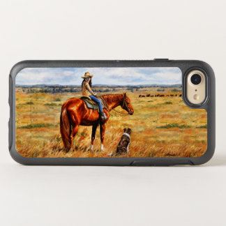 Little Cowgirl on Cattle Horse OtterBox Symmetry iPhone 7 Case