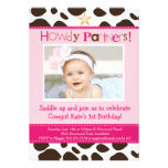 Little Cowgirl Party Invitation Personalized Invites