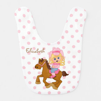 Little Cowgirl Personalized Baby Bib