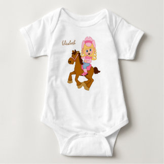 Little Cowgirl Personalized Baby Bodysuit