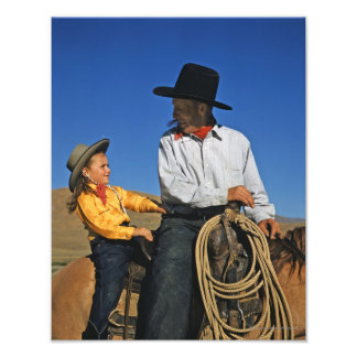 Little Cowgirl Photo Print