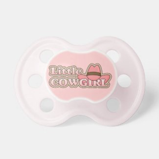 Little Cowgirl Pink Western Hat Pacifier