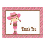 Little Cowgirl Thank You Postcard Postcards