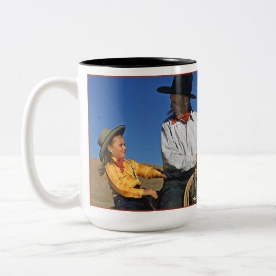 Little Cowgirl Two-Tone Coffee Mug