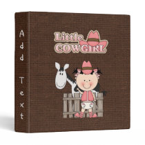 Little Cowgirl with her Horse Avery Binder