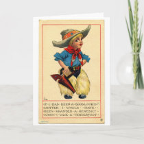 Little Cowpoke, Greeting Card