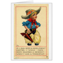 Little Cowpoke, Greeting Card