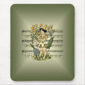 Little Cowslip By Nellie Benson 1901~ Sheet Music Mouse Pad