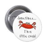 Little Crab 2 Inch Round Button