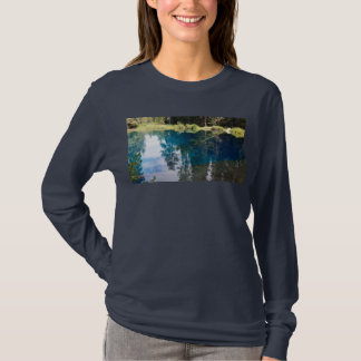 Little Crater Lake Blue Teal Orb T-Shirt
