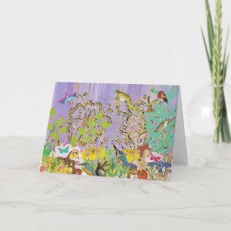 Little Creatures Greeting Cards card