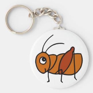 Little Cricket Basic Round Button Keychain