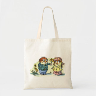 Little Critter & friend with flowers Budget Tote Bag