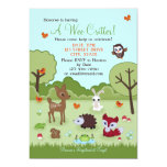 "Little Critter Woodland Animals Shower Invitation 5"" X 7"" Invitation Card"