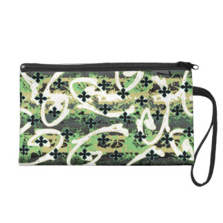 little crosses green/tan wristlets