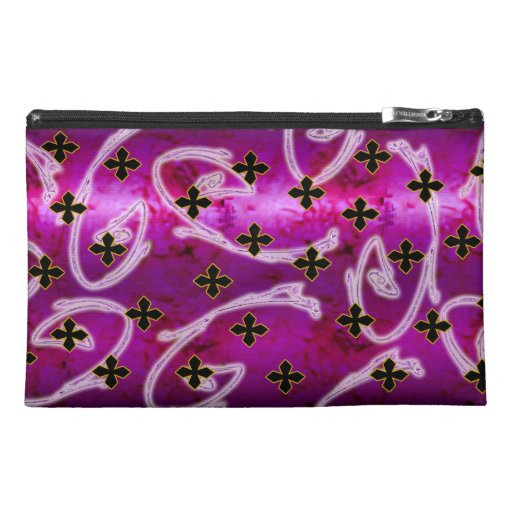 little crosses rose travel accessory bags