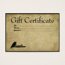 Little Crow On A Branch- Prim Gift Certificate Car