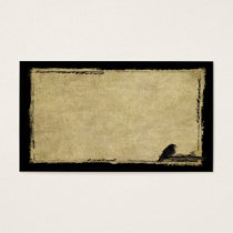 Little Crow On Branch- Prim Biz Cards