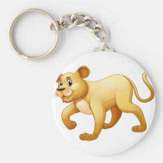 Little cub walking alone keychain