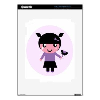 Little cue EMO girl purple iPad 2 Skins