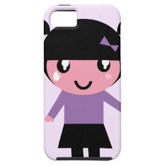 Little cue EMO girl purple iPhone SE/5/5s Case