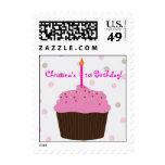 Little Cupcake 1st Birthday US Postage Stamp