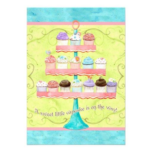 Little Cupcake, Baby Shower Invitations
