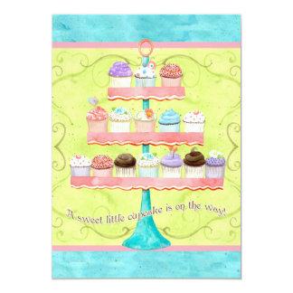 "Little Cupcake, Baby Shower Invitations 5"" X 7"" Invitation Card"