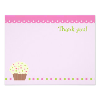 Little Cupcake Blank Thank You Note Cads girls Card