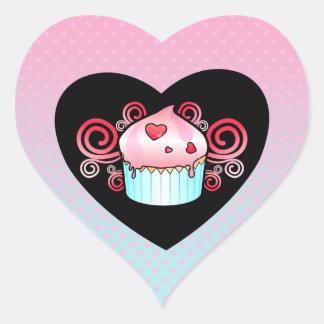 """""""LIttle Cupcake"""" Heart Sticker"""