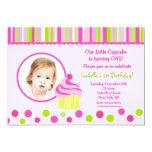 "Little Cupcake Photo Birthday Party Invitations 5"" X 7"" Invitation Card"