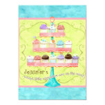 Little Cupcake, Twin Baby Shower Invitations