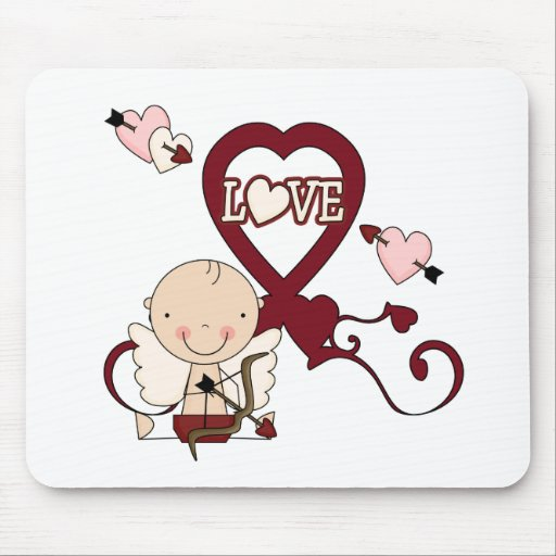 Little Cupid Love Tshirts and Gifts Mouse Pad