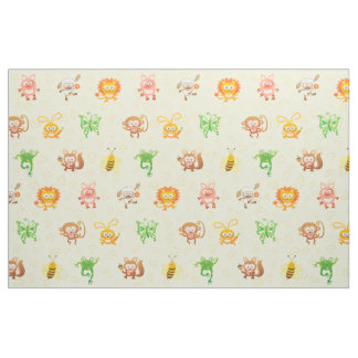 Little Cute Animals Festival Fabric