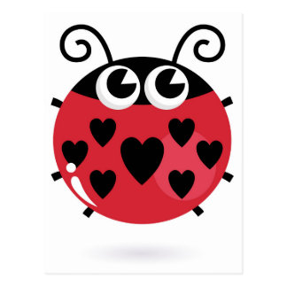 Little cute bee with Black dots Postcard