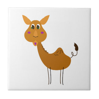 Little cute Camel on white Tile