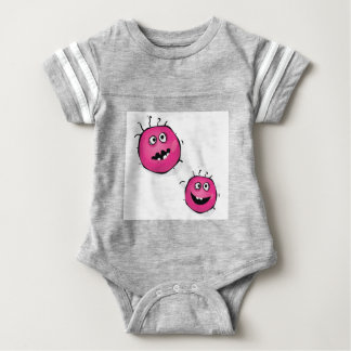 Little cute Germs pink Edition Baby Bodysuit