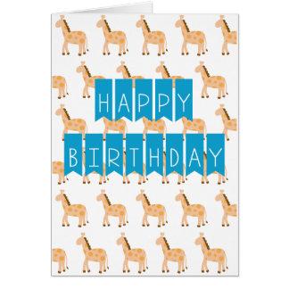 Little Cute Giraffes HAPPY BIRTHDAY Card