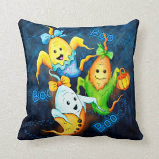 LITTLE CUTE GOSTS HALLOWEEN THROW PILLOW 16 X 16