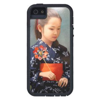 LIttle cute japanese girl kimono portrait painting iPhone SE/5/5s Case
