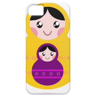 Little cute matroshkas : yellow, purple iPhone SE/5/5s case