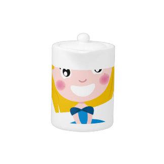 Little cute princess Blue Teapot
