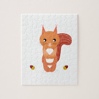 Little cute squirel on white jigsaw puzzle
