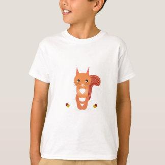 Little cute squirel on white T-Shirt